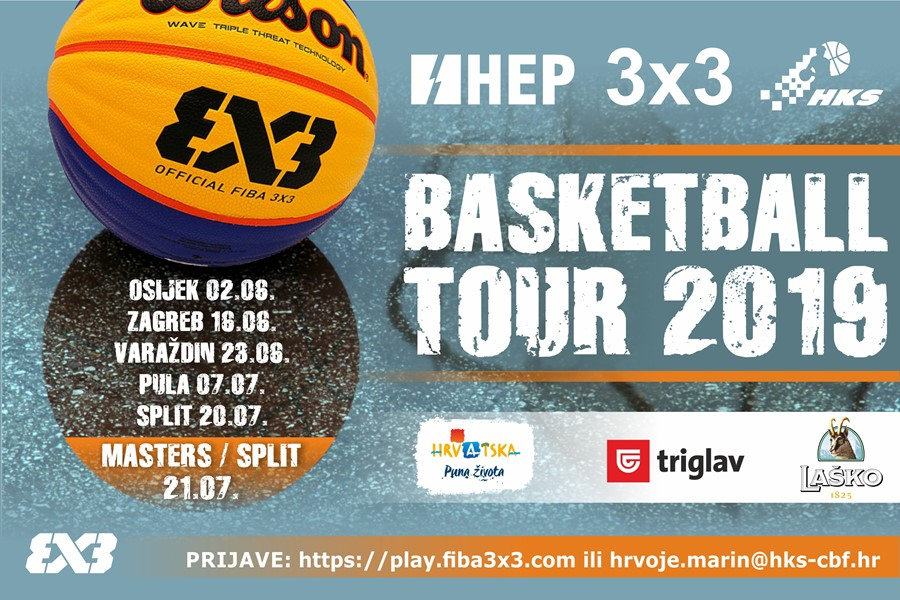 HEP 3x3 Basketball Tour 2019 uskoro u pet gradova!